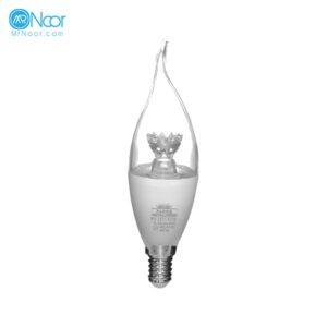 لامپ 8 وات اشکی شفاف LED پارمیس